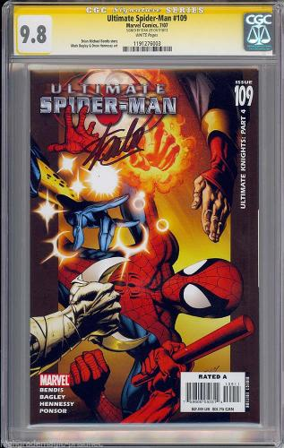 Ultimate Spider-man #109 Cgc 9.8 Ss Stan Lee Sgned Highest Graded  #1191276003