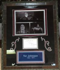 Ultra Rare Tor Johnson Signed Autographed Card Framed Plan 9 From Outer Space