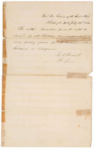 Ulysses S. Grant Signed Autographed Civil War Handwritten Letter Beckett BAS
