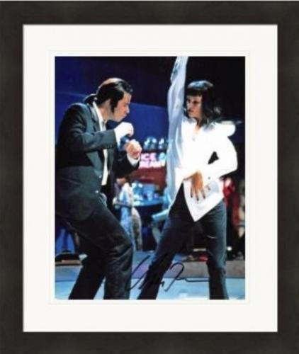 Uma Thurman autographed 8x10 photo (Pulp Fiction Dance) #SC1 Matted & Framed