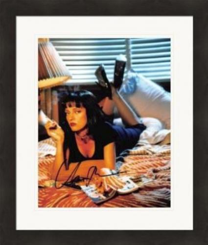 Uma Thurman autographed 8x10 photo (Pulp Fiction) #SC3 Matted & Framed