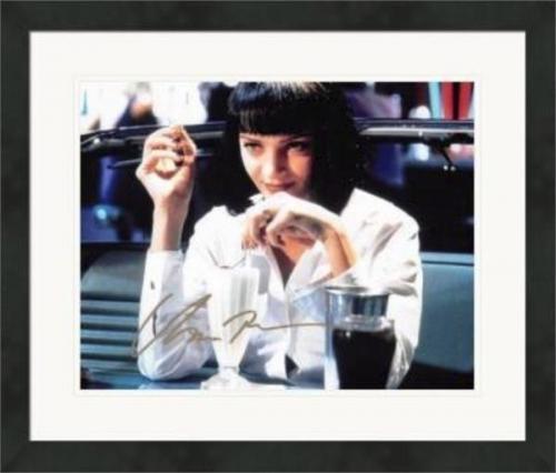 Uma Thurman autographed 8x10 photo (Pulp Fiction) #SC5 Matted & Framed