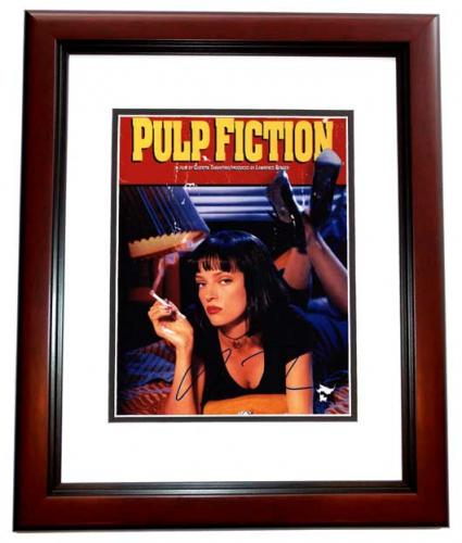 Uma Thurman Signed - Autographed PULP FICTION 11x14 inch Photo MAHOGANY CUSTOM FRAME - Guaranteed to pass PSA or JSA