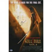 """Uma Thurman Kill Bill Vol.2 Autographed 12"""" x 18"""" Movie Poster - BAS"""