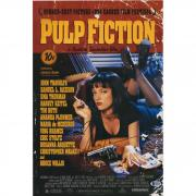 "Uma Thurman Pulp Fiction Autographed 12"" x 18"" Movie Poster - BAS"