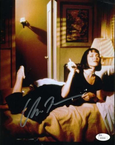 UMA THURMAN PULP FICTION JSA Coa Hand Signed Authentic 8x10 Photo Autograph