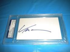 Uma Thurman Signed 3x5 Index Card Autographed Ip! Psa/dna Slabbed