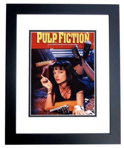 Uma Thurman Signed - Autographed PULP FICTION 8x10 inch Photo BLACK CUSTOM FRAME - Guaranteed to pass PSA or JSA