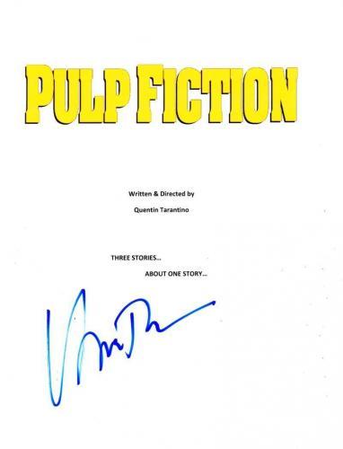 Uma Thurman Signed Full Pulp Fiction Script Authentic Autograph Coa