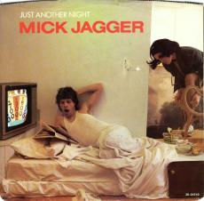 Un-signed Mick Jagger Just Another Night Single Sleeve
