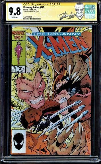 Uncanny X-men #213 Cgc 9.8 White Ss Stan Lee Highest Graded Cgc #1227815002