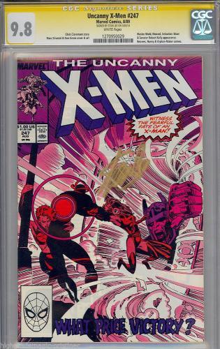 Uncanny X-men #247 Cgc 9.8 Ss Stan Lee Signed Highest Graded Cgc #1270950029