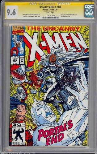 Uncanny X-men #285 White Pages Ss Stan Lee Signed Cgc #1197182009