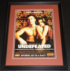 Undefeated 2003 John Leguizamo Framed ORIGINAL Vintage Advertisement Poster