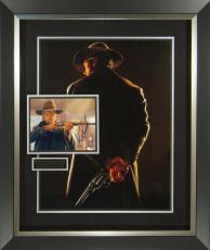Unforgiven Clint Eastwood Signed Movie Poster Framed Display