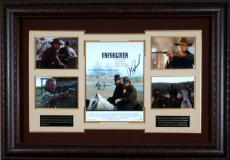 Unforgiven Signed Movie Poster Clint Eastwood and Morgan Fre