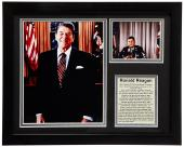 United States Of America 40th President Ronald Reagan 8x10 Photo Framed