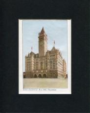 1909 United States Post Office Department Original Engraving Book Photo Display