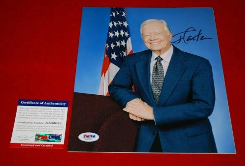 Jimmy Carter Autographed Photograph - united states president PSA DNA 8x10 USA 3