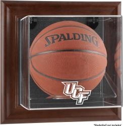University of Central Florida Knights Brown Framed Wall-Mountable Basketball Display Case