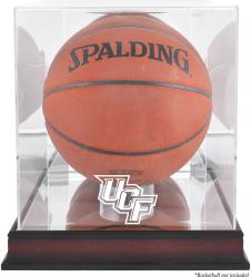 University of Central Florida Knights Mahogany Logo Basketball Display Case with Mirror Back