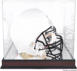 University of Central Florida Knights Mahogany Logo Mini Helmet Display Case with Mirror Back