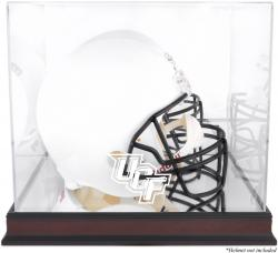 University of Central Florida Knights Mahogany Logo Mini Helmet Display Case with Mirror Back