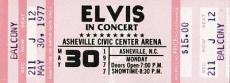Unused Elvis Presley Concert Ticket May 30th 1977 Ashville Nc The King