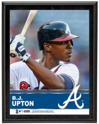 B.J. Upton Atlanta Braves Sublimated 10.5'' x 13'' Plaque - Mounted Memories