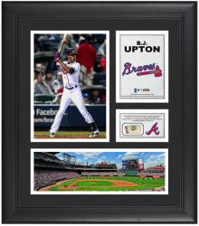 "B.J. Upton Atlanta Braves Framed 15"" x 17"" Collage with Game-Used Baseball - Mounted Memories"