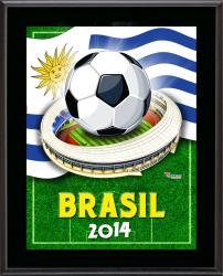 "Uruguay 2014 Brazil Sublimated 10.5"" x 13"" Plaque"