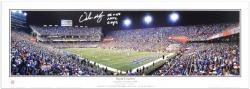 "Urban Meyer Florida Gators Autographed Panoramic with Inscription ""06 & 08 Nat'l Champs"" - Mounted Memories"