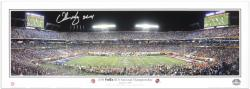 "Urban Meyer Florida Gators Autographed Panoramic with Inscription ""24-14"" - Mounted Memories"