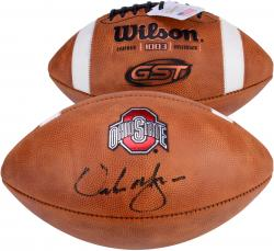 Urban Meyer Ohio State Buckeyes Autographed NCAA Wilson Pro Football Signed in Black Ink