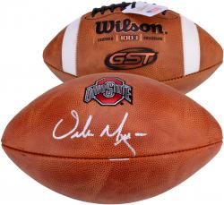 Urban Meyer Ohio State Buckeyes Autographed NCAA Wilson Pro Football Signed in Silver Ink