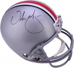 Urban Meyer Ohio State Buckeyes Autographed Riddell Replica Full Size Helmet