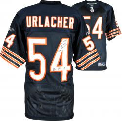 Brian Urlacher Chicago Bears Autographed Reebok Navy Authentic Jersey with Multiple Inscription-Limited Edition of 12 - Mounted Memories