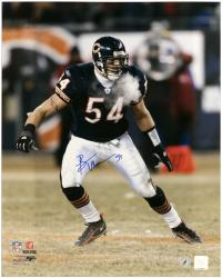 Brian Urlacher Chicago Bears Autographed 16'' x 20'' Windy City Photograph - Mounted Memories