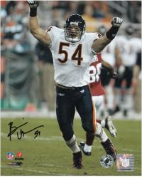 Brian Urlacher Chicago Bears Autographed 8'' x 10'' Arms Up Photograph - Mounted Memories