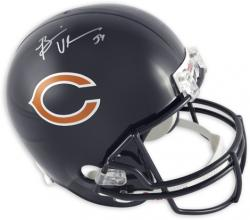 Brian Urlacher Chicago Bears Autographed Riddell Replica Helmet - Mounted Memories