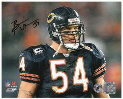 Brian Urlacher Chicago Bears Autographed 8'' x 10'' Head Shot Photograph - Mounted Memories
