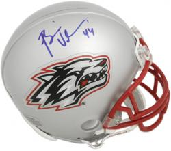 Brian Urlacher New Mexico Lobos Autographed Riddell Mini Helmet - Mounted Memories
