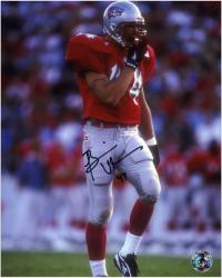 Brian Urlacher New Mexico Lobos Autographed 8'' x 10'' Photograph - Mounted Memories