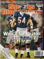 Brian Urlacher Chicago Bears Autographed Waiting No Label Sports Illustrated - Mounted Memories
