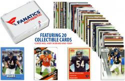 Brian Urlacher Chicago Bears Collectible Lot of 20 NFL Trading Cards - Mounted Memories