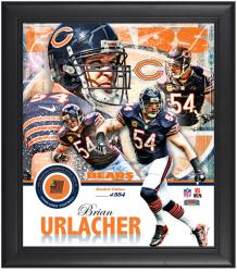 "Chicago Bears Brian Urlacher Framed 15"" x 17"" Multi Photo Collage Limited Edition of 554"