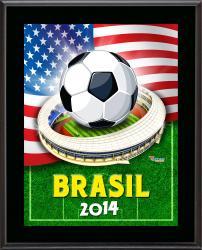 "USA 2014 Brazil Sublimated 10.5"" x 13"" Plaque"