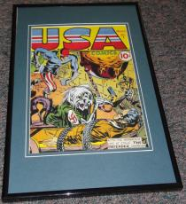 USA Comics #1 1941 Timely Framed 9x12 Cover Poster Photo Jack Kirby Stan Lee