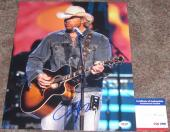 USA!!! Toby Keith COUNTRY Signed VERY COOL LIVE 11x14 Photo #1 PSA/DNA
