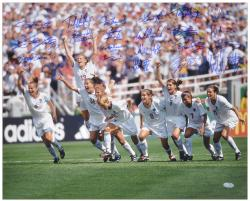 "1999 USA Women's Soccer Team Autographed 16"" x 20"" Photograph"